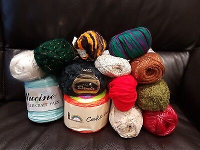 ****BIG**** BUNDLE KNITTING CROCHET WOOL/YARN BALLS 1000g RANDOM WHOLESALE