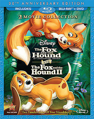 The Fox and the Hound I & II 30th Anniversary Edition Blu-Ray 2 Movies