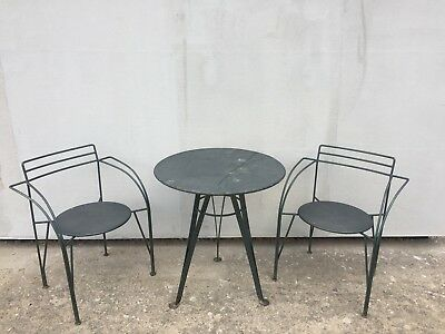 Chaises table industrielle Vintage  loft factory mobilier indus design XXème