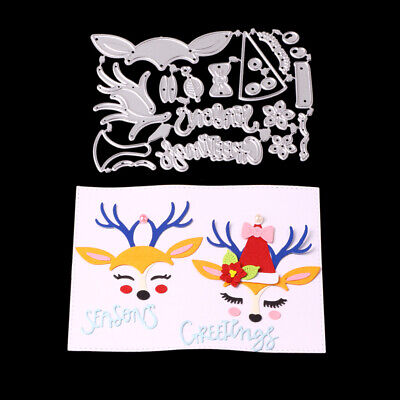 Christmas Fawn Metal Cutting Dies Scrapbooking Paper Cards Craft Making Stencils