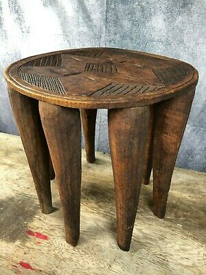 Side table,Elephant Stool, African, Heavily curved, Cool interior, Side table
