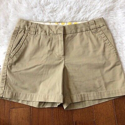 25049dfecf6 J. Crew Women s Chino Shorts Weathered Broken-In Classic Twill City Fit  Size 4