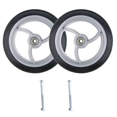 2pcs Durable Wheelchair Front Castor Wheels Replacement Part Tool 8 inch