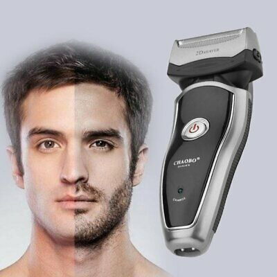Rechargeable Electric Razor Portable Man Shaver Groomer Double Side Trimmer T-