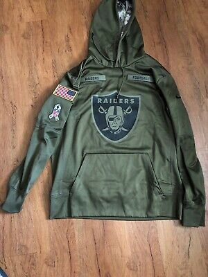 official photos 91d11 871fd OAKLAND RAIDERS NFL 2018 Nike Salute To Service Hoodie - Mens Large Nwt!!!