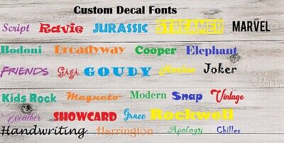 Custom name personalized iron on vinyl  for cloth, tee shirts name or text