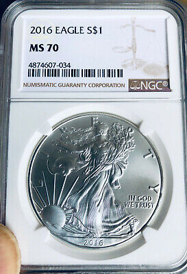 2016 American Silver Eagle - NGC MS-70 -  Mint State 70