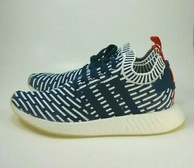 ef7e14cad2759 New Adidas Originals NMD R2 Primeknit Sneaker- BB2909 Navy White Men s Size  12.5