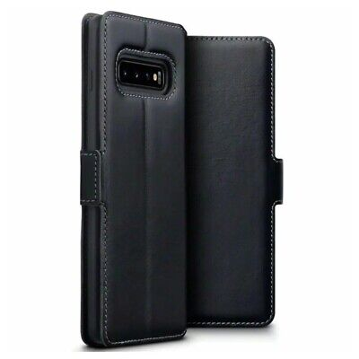 TERRAPIN Samsung Galaxy S10+ Plus Slim Fit GENUINE LEATHER Wallet Flip Cover BLK