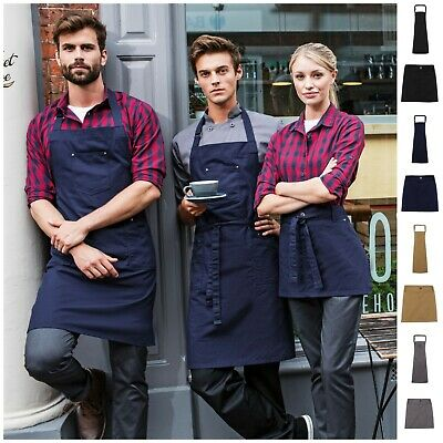 Chino Apron for Cafe Restaurant Chefs Butchers Kitchen Cook Bake Barista Pocket