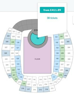2 Spice Girls GOLD Circle Premium Standing Tickets Manchester Etihad 01/06/19
