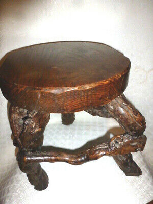 Rare 1930s 50s Vintage Vine French Grapevine FOOTSTOOL Original Mid Century Mod