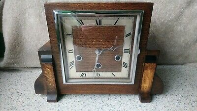 Northern Goldsmiths Art Deco Westminster Chimes Mantel Clock