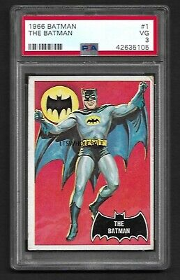 1966 Batman (Black Bat) #1 The Batman. PSA 3 VG