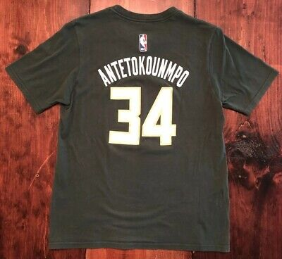 e925e7c65 Giannis Antetokounmpo Milwaukee Bucks Adidas Youth Jersey Player T-Shirt Sz  XL