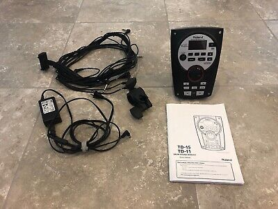Roland TD-11 Drum Sound Module w/ Manual + Adapter Cords