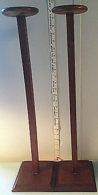 ANTIQUE HAT STAND Wood Walnut Oak Inlay Victorian Millinery