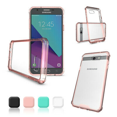 For Samsung Galaxy Phones Durable Tough Shockproof Rubber Bumper Clear Hard Case