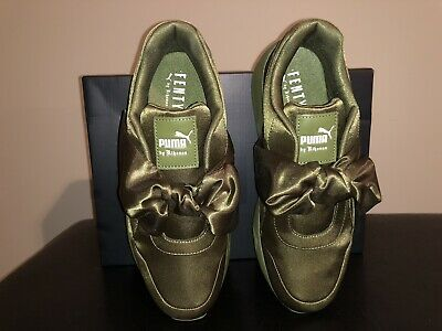119bc8044c95 Puma x Fenty By Rihanna Women Bow Sneaker Olive Branch 365054-04 size US 8.5