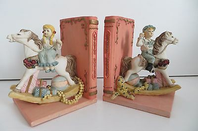 Rocking Horse Bookends Children's Victorian Style Bedroom (set 2) Book Stops