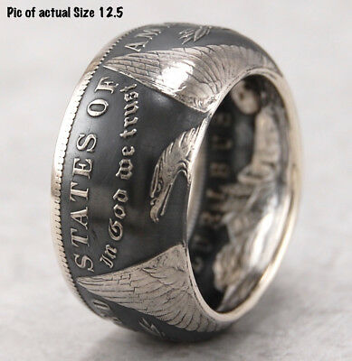 Top Quality~Morgan Dollar Silver Coin Ring~Hand Made To Any Size From 10-14
