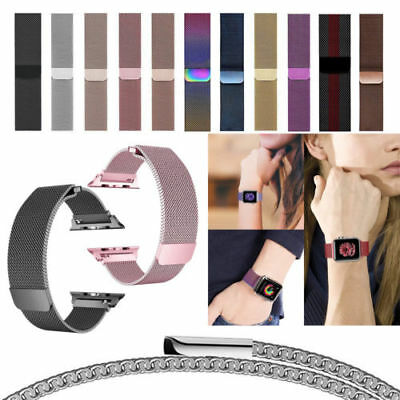 For  i Watch Series 4 3 2 1 Magnetic Milanese Stainless Wrist Band Strap38/42
