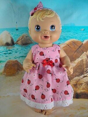 Dolls clothes~33cm Baby Alive 32cm Little Baby Born Doll LADYBUG DRESS SET