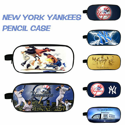 2019 HOT New York Yankees NY Unisex Pencil Case Makeup Storage Bag Zipped Barrel