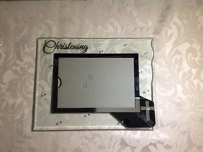 Russ Baby Small Blessings 4x6 Christening Photo Frame Glass girl