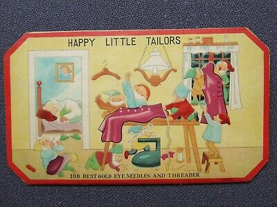 """Vintage Needle Case Collectable """"Happy Little Tailors"""""""