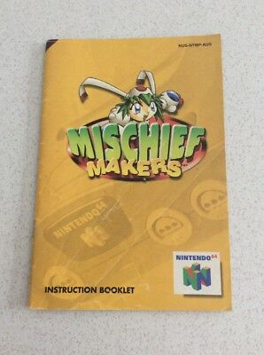 Mischief Makers Nintendo 64 Game Manual Only Instruction Booklet N64