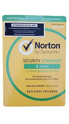 Norton Internet Security Standard 2020 Antivirus 1 Device 1 Year Software Key