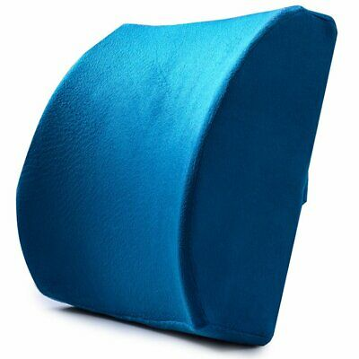 Lumbar Back Support Cushion Waist Rest Pillow Memory Foam Cotton Chair Seat AZ