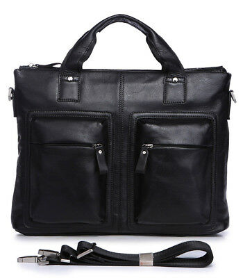 Vintage Leather Mens Messenger Satchel Briefcase Laptop Business Crossbody Bag