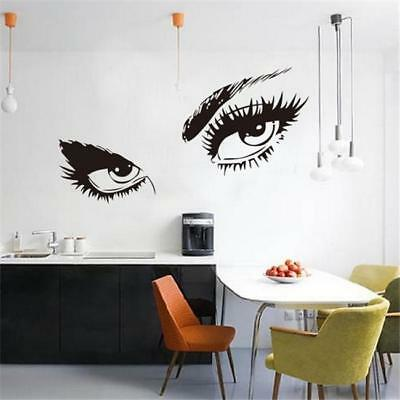 Sexy Woman Face Eyes Wall Stickers For Girls Room Decor DIY Home Decals Wall SO