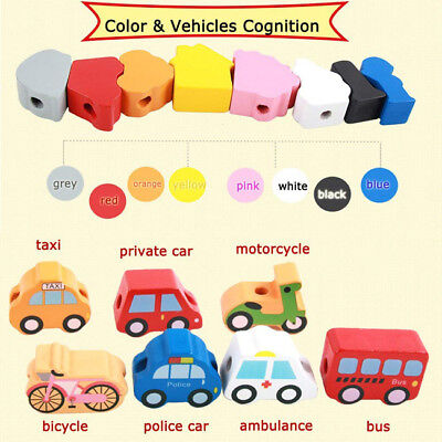 Children Kids Baby Colorful Wooden Mini Beads Educational Game Toys SO