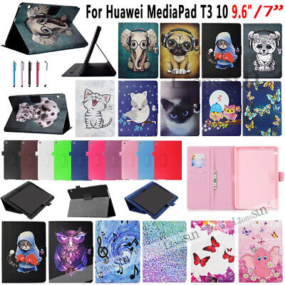 """For Huawei Mediapad T3 10 9.6"""" 7.0 Inch Tablet Pattern Leather Case Cover 2017"""