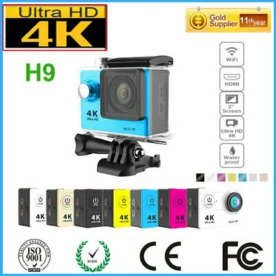"H9 4K Ultra HD 16MP 2.0"" Waterproof WIFI Sports Action Camera Camcorder 30M BP"
