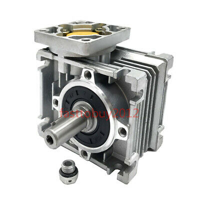 NMRV030 Worm Gearbox Geared Reducer 15:1 NEMA23 Flange Input 11mm for Stepper