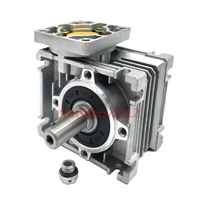 RV030 Worm Gearbox 15:1 Ratio Gear Reducer NEMA23 Reduction Single Output Shaft