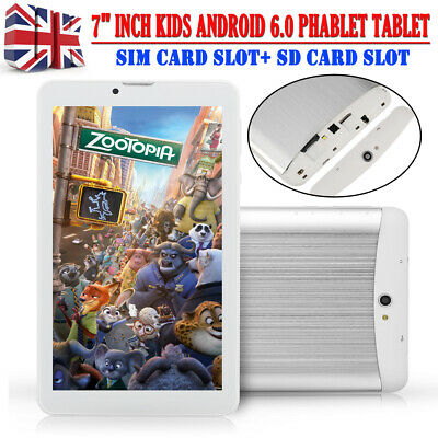 7″ Inch Android 6.0 Kids Tablet 8GB SIM Slot Dual Camera WIFI Phone Phablet UK