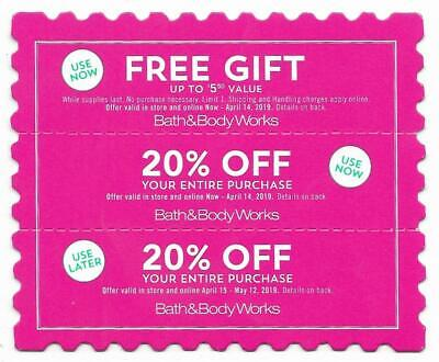 BATH & BODY WORKS Coupons  20% off (Use In Store or Online)