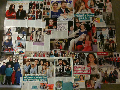 PRINCESS MARY, PRINCE FREDERIK - Over 20 clippings