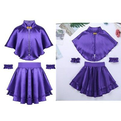 Kids Girls Greatest Show Costume Fancy Dress Up Cosplay Cape Skirt Dress Outfits