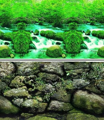 "19"" High Double Sided Aquarium Background Backdrop Fish Tank Reptile Vivarium"