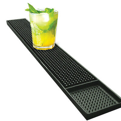 Black Rubber Bar Mat Bar Runner Drip Tray Strip 600mm x 80mm Home Bar Restaurant