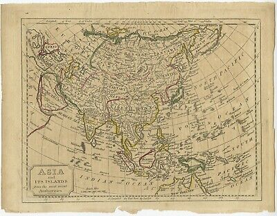 Asia and its Islands from the most recent Authorities - Topham (c.1810)