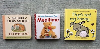 3x Baby/Toddler Books (Guess How Much I Love You /Mealtime /That's Not My Bunny