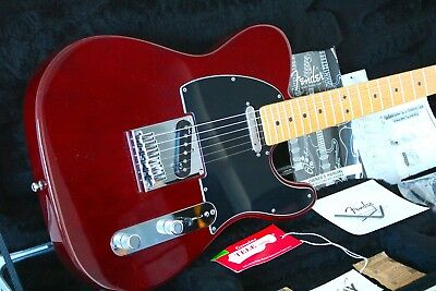 Fender American Deluxe Ash Telecaster ★ MN-WT Wine-Transparent ★ OFHC ★ Great ★