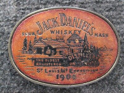 Jack Daniels Whiskey St. Louis 1904 Expo Belt Buckle, Free Shipping.